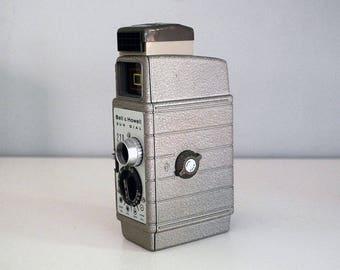 Caméra de film 8mm, 1954 Bell & Howell cadran solaire 220, Gray Film Camera, Vintage électronique, théâtre Photo Prop, décor industriel