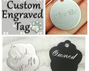 Custom Engraved Tags, pet play, kittenplay, puppy play, bdsm