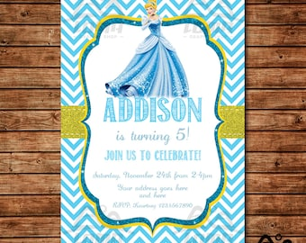 Cinderella Birthday Invitation, Cinderella Birthday, Disney Princess Invitation, Princess Birthday Invitation, Cinderella, Prince Charming