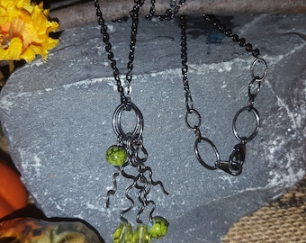 Simple Green Chain Necklace