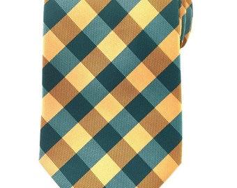 Mens Necktie Orange Green White 8.5 CM Necktie with Pocket Square. Green Wedding Necktie. Neck tie Pocket Square. Groomsmen Neckties. Hanky