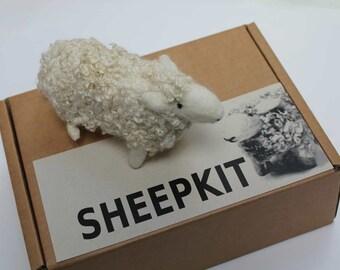 Needle felt a  Welsh sheep kit