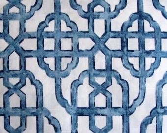 IMPERIAL SEASIDE blues designer, drapery/bedding/upholstery ikat fabric