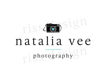 Premade Logo for Small Business - Premade Photography Business Logo / You choose colors / Camera logo for your photography business