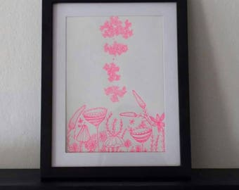 Plant Monster- Original Drawing