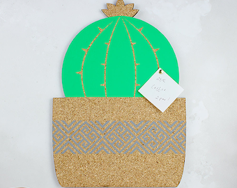 Cactus Memo Board - Cactus Notice Board - Cork Board - Cactus Cork Board - Desk Accessory - Cactus Gift - Office Wall Decal - Pin Board