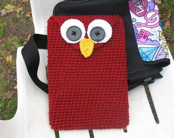 Crochet Owl Tablet Cover/ Tablet Cozy/ Tablet Case