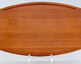 MCM Danish Modern JHQ Jens Quistgaard for Dansk Teak Surfboard Shaped Platter Tray