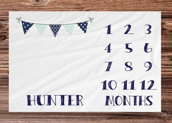 Baby Milestone Blanket Month Blanket Baby Growth Tracker