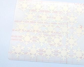 46 White Snowflakes Stickers, White Snowflakes Planner Stickers, Envelope Seal, Party Stickers, Wedding Stickers, Birthday Stickers,Xmas