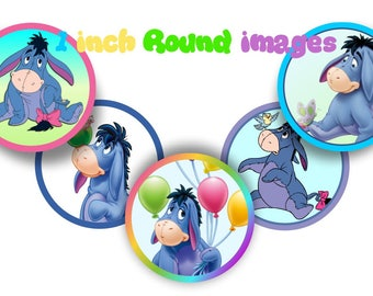 Eeyore Bottle Cap Images Winnie the Pooh Eeyore 1 INCH Round Images Winnie the Pooh images round images Winnie the Pooh Eeyore BCI 1 image
