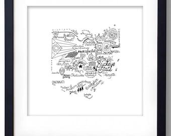 Ohio - Hand drawn illustrations and type
