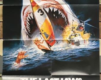 German Filmposter The last Jaws der weisse Killer (The Last Shark)Dir.  Enzo G. Castellari 1981 x