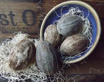 Primitive Easter Eggs, Primitive Eggs, Farmhouse Decor, Cottage Decor, Fresh Eggs, Rustic Eggs. Fabric Eggs