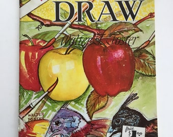 How To Draw New Edition by Walter Foster, Vintage 1970s Drawing Paperback Book
