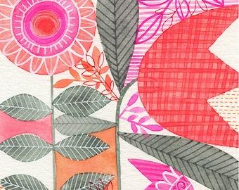 No.30, ORIGINAL watercolour, abstract floral, botanical, art, wall art, home decor