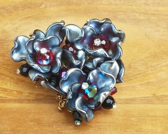 Alice Caviness glass and crystals brooch