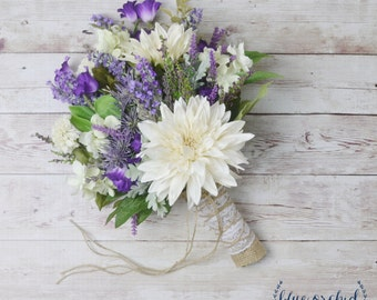 Rustic Wedding Bouquet, Wildflower Bouquet, Lavender Bouquet, Bridal bouquet, Rustic Bouquet, Woodland Bouquet, Wedding Bouquet, Lavender