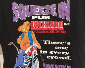 Vintage 1992 flordia Bike Week t-shirt Squeeze In Pub motorcycle pocket tee by Fruit of the Loom