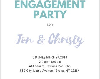Engagement Invitation - MARCH - Spring