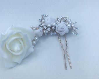 wedding hairpin, wedding hair, accessories,  flower hairpin, wedding hair accessories, bride to be, bridesmaid hair, Wedding ideas