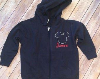 Custom Hoodie - Personalized - Mickey Mouse - Minnie - Disney - Zip Up Hoodie - Grey - Long Sleeve - Adult w8FxWbIP