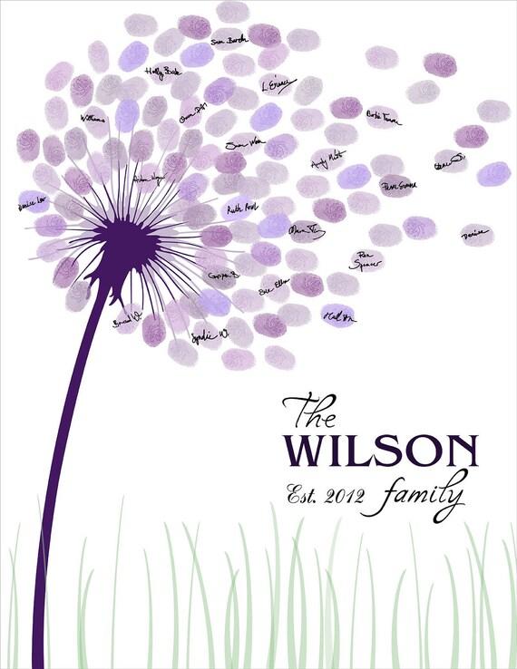 Wedding Guestbook Family Tree Fingerprint Guest Book