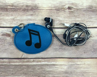 Music Note Earbud Holder, Cord Keeper