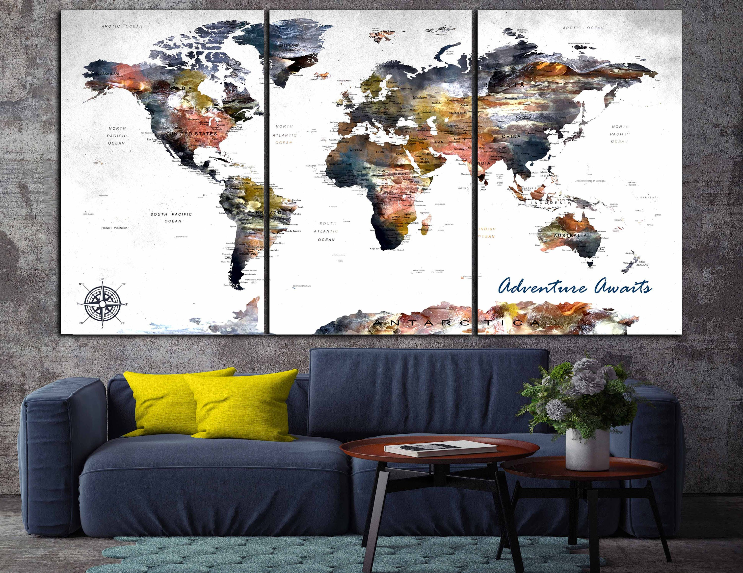 World map canvaslarge world mapworld map wall artlarge map panels world map canvaslarge world mapworld map wall artlarge map panelstravel mappush pin mapworld map artabstract world map artcustom map gumiabroncs Images