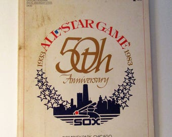 All Star Game 1983 50th Anniversary Souvenir Program