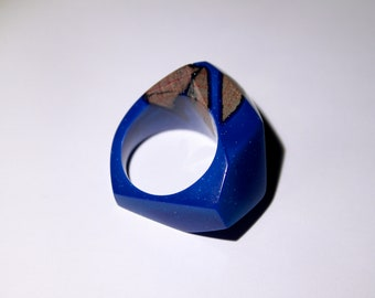 Blossom ring | epoxy resin and wood ring