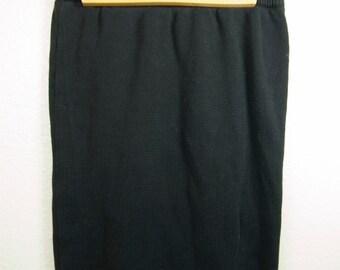 Vintage Black Richard Sport 80s Sweater Skirt Small/Medium