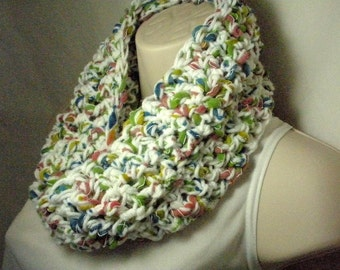 Cotton Candy Multicolor Cowl Infinity Circle Scarf Neckwarmer