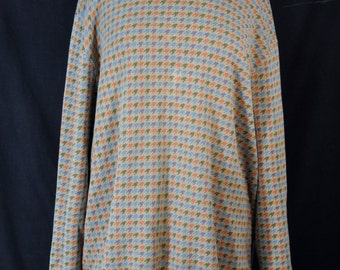 Vintage Oversized Multi Colored Houndstooth Sweater 90s Grunge Retro