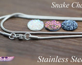 Stainless Steel Necklace Chain with Lobster Clasp - Finished Necklace chain - Stainless Steel Snake Chain - Stainless Steel Snake Chain