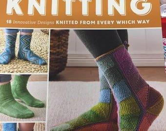 "Sock knitting book ""New directions in sock knitting"" 18 patterns"