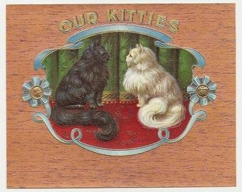10 Old CIGAR Box LABELS Persian CATS Etc...