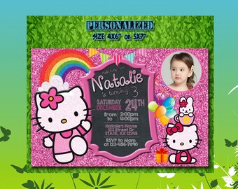 Hello Kitty Invitation / Hello Kitty Birthday / Hello Kitty Party / Hello Kitty Invite / Hello Kitty Birthday Invite / Hello Kitty / S012