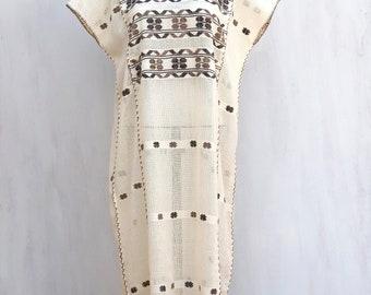 Hand woven mexican dress, huipil dress, mexican woven dress, mexican huipil, woven dress
