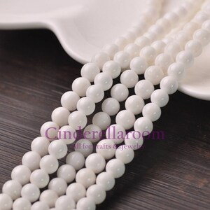 4mm/6mm/8mm/10mm/12mm Round Mother-of-pearl Tridacna Gemstone Stone Charms Loose Spacer Beads Jewelry Making Findings - White BS014