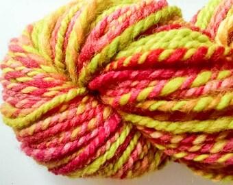 Hand Spun Yarn in starburst