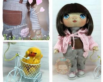 Doll Gabriela Handmade Fabric Doll 26 cm/Gabriela Doll handmade fabric doll 10.2 ' '