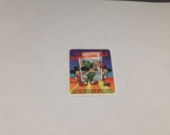Vintage  Rare Mello Smello Disney Nutrition Milk Sticker 80s 1980s