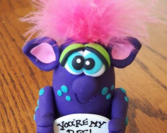 """Best Friends Gift, Pook's""""You're my BFF"""" Figurine, Custom Figurine, Best Friend Giftware, Best Friends, Cake Topper, Pook Designz"""
