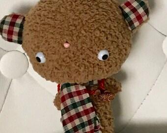 FREE US SHIPPING Cute Brown Bear Plush Stuffed Animal Plushie Softie Teddy Bear Kawaii Gift
