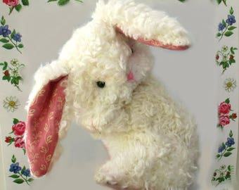"Bunny Loveable super cute soft toy rabbit sewing pattern.    7"" head to tail."