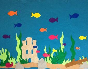 3'x4' Felt Board Set - Aquarium