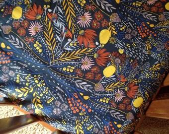 Girls Fitted Crib Sheets - Navy Pink Nursery / Changing Pad Covers / Boho Crib Bedding /Floral Nursery Bedding /Mini Crib Sheets Alma Mini