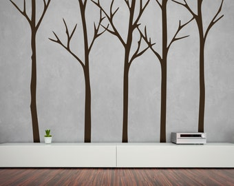 Winter Tree Wall Decal - Tree Decal - Tree Wall Sticker - Wall Decal