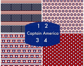 Pattern Vinyl, Captain America, HTV, Adhesive Outdoor 651 Vinyl, Heat Transfer Vinyl, Iron On Vinyl, Decals, Patriotic, 4th of July